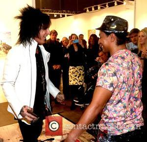 Nikki Sixx and Robert Vargas - 2015 LA Art Show at the Los Angeles Convention Center at Los Angeles Convention...