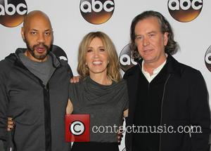 John Ridley, Felicity Huffman and Timothy Hutton - Disney & ABC Television Group's TCA Winter Press Tour - Arrivals at...