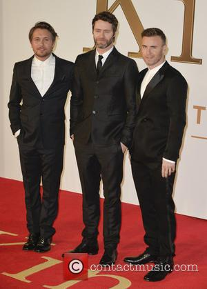 Mark Owen, Howard Donald and Gary Barlow - A variety of stars were snapped on the red carpet for the...
