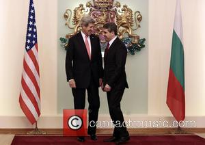 John Kerry and Bulgarian President Rosen Plevneliev