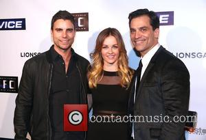Colin Egglesfield and Ambyr Childers - Premiere screening of 'Vice' held at TCL Chinese Theatre - Arrivals at TCL Chinese...