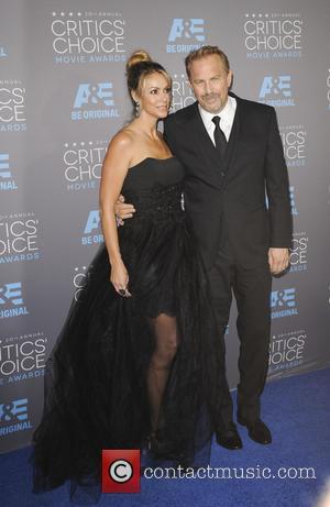 Chistine Baumgartner and Kevin Costner