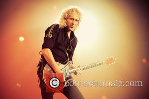 Brian May - Shots of British rock band Queen and their new front man Adam Lambert as they performed live...