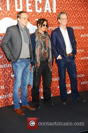 Paul Bettany, Johnny Depp and David Koepp