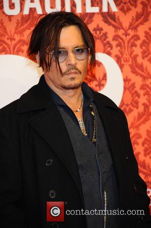Johnny Depp - Shots of the cast of 'Mortdecai' including Johnny Depp as they promote their movie at Hotel Adlon...