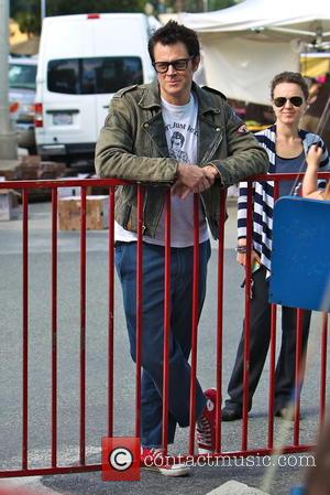 Johnny Knoxville - Founder and star of the American franchise 'Jackass' Johnny Knoxville was snapped as he took his family...