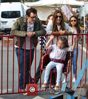 Johnny Knoxville, Naomi Nelson and Arlo Clapp - Founder and star of the American franchise 'Jackass' Johnny Knoxville was snapped...