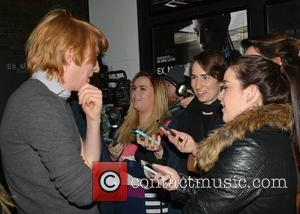 Domhnall Gleeson & journalists - Director Alex Garland & actor Domhnall Gleeson at a preview screening of their movie 'Ex...