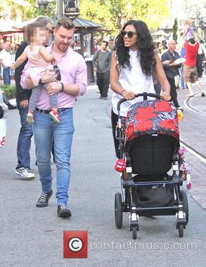 Marsha Thomason, Tallulah Anaïs Sykes and Craig Sykes - White Collar star, Marsha Thomason takes her family shopping at The...