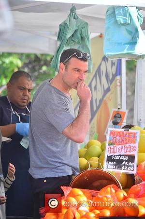 Liev Schreiber - American actor Liev Schreiber was spotted out on a bike ride as he took his sons to...