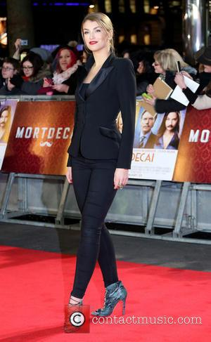 Amy Willerton - A host of stars were photographed as they attended the UK premiere of 'Mortdecai' which stars American...