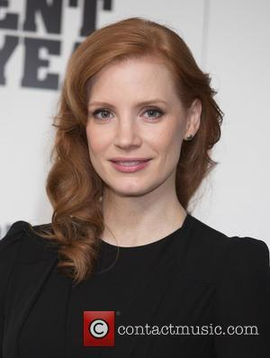 Shots of the American actress Jessica Chastain as she attended a photocall for the film 'A Most Violent Year' which...