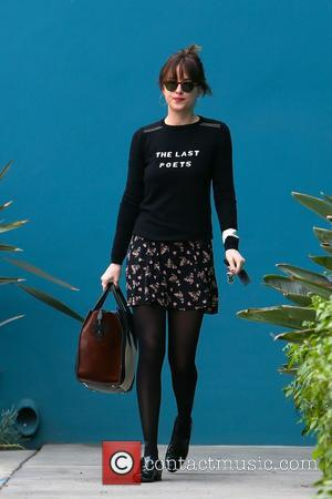 Star of the upcoming adult drama/romance movie '50 Shades of Grey' Dakota Johnson was spotted as she left Windsor Pilates...