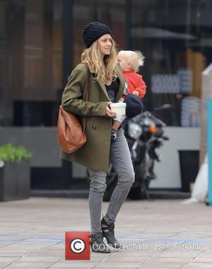 Teresa Palmer and Bodhi - Actress Teresa Palmer carrying her son Bodhi after having breakfast at Cafe Gratitude in Los...