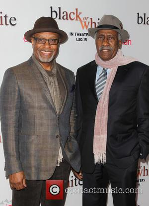 James Pickens Jr. and Guest - Los Angeles premiere of 'Black or White' - Arrivals at Regal Cinemas L.A. Live...