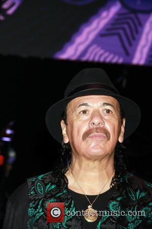 Carlos Santana - Guitar legend Carlos Santana receives Key to the Las Vegas Strip held at House Of Blues inside...