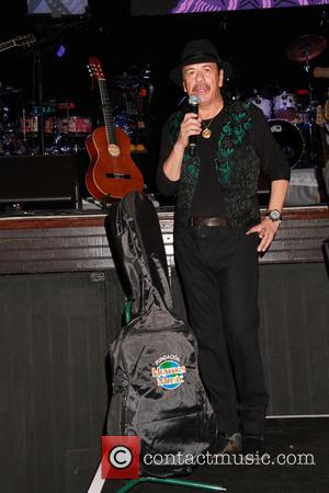 Carlos Santana - Guitar legend Carlos Santana receives Key to the Las Vegas Strip held at House Of Blues inside...