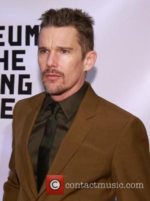 Ethan Hawke - Museum of Moving Image Salutes Julianne Moore at 583 Park Avenue -  Arrivals at 583 Park...