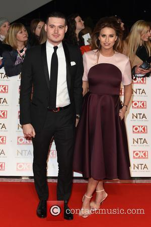 Ferne McCann and Guest - A host of British television stars were photographed on the red carpet at The National...
