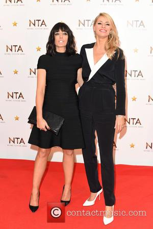 Claudia Winkleman and Tess Daly - National Television Awards held at the O2 - Winners Board. at National Television Awards...