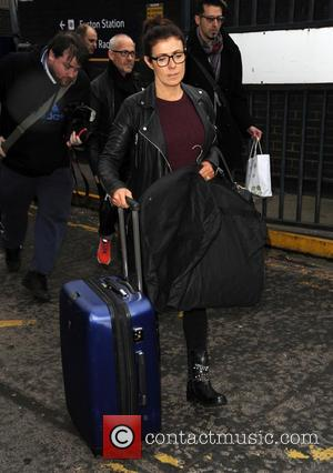 Kym Marsh - Celebrities arrive at Euston station for the NTA's - London, United Kingdom - Wednesday 21st January 2015