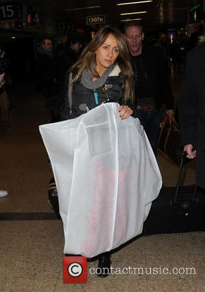 Samia Ghadie Anthony Cotton - Celebrities arrive at Euston station for the NTA's - London, United Kingdom - Wednesday 21st...