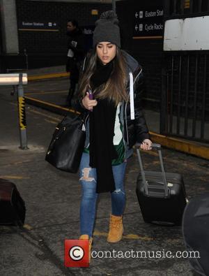 Georgia May Foote - Coronation Street stars arrive at Euston - London, United Kingdom - Wednesday 21st January 2015