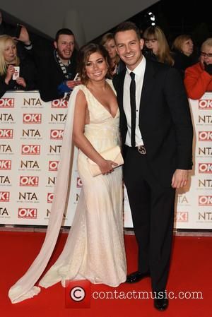 Nikki Sanderson and Guest - A host of British television stars were photographed on the red carpet at The National...