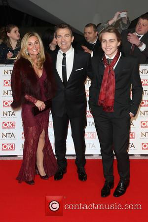 Bradley Walsh, wife Donna Derby and Barney Walsh