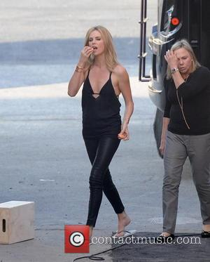 Shots of American actress Charlize Theron as she posed for a photo shoot for Esquire magazine in downtown Los Angeles,...