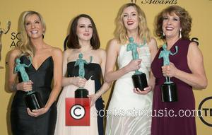Joanne Froggatt, Sophie McShera, Laura Carmichael and Phyllis Logan - A variety of stars were photographed in the press room...