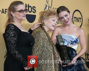 Carrie Fisher, Debbie Reynolds and Billie Catherine Lourd - A variety of stars were photographed in the press room at...