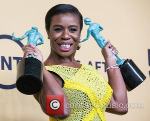Uzo Aduba - A variety of stars were photographed in the press room at the 21st Annual SAG Awards which...