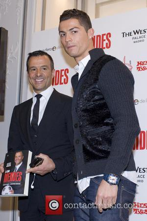 Cristiano Ronaldo - Real Madrid football player Cristiano Ronaldo attends a presentation of the book 'The key Mendes' at the...