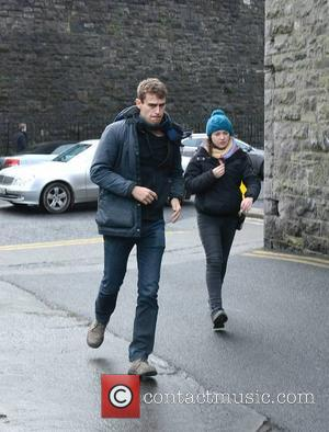 Theo James - Actors Jack Reynor & Theo James spotted on the set of Jim Sheridan's