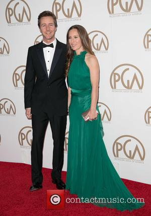 Edward Norton and Shauna Robertson - A variety of stars were photographed on the red carpet as they attended the...