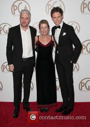 Anthony Mccarten, Lisa Bruce and Eddie Redmayne