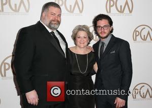 Dean Deblois, Bonnie Arnold and Kit Harrington