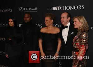 Kim Kardashian, Kanye West, Philippe Dauman Debra Lee and Deborah Dauman
