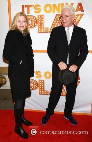 Diane Sawyer and Steve Martin - Re-opening night of It's Only A Play at the Bernard B. Jacobs Theatre -...