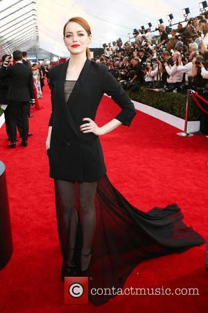 Emma Stone - 21st Annual Screen Actors Guild Awards - Arrivals at Shrine Auditorium, Screen Actors Guild - Los Angeles,...