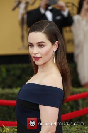 Emilia Clarke - 21st Annual Screen Actors Guild Awards - Arrivals at Shrine Auditorium, Screen Actors Guild - Los Angeles,...