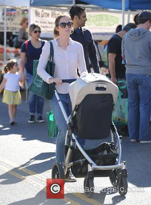 Emily Blunt - British actress Emily Blunt and her husband Jon Krasinski were spotted as they took their baby daughter,...