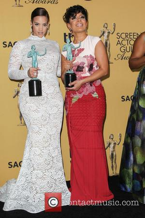 Dascha Polanco and Selenis Leyva - A variety of stars were photographed in the press room at the 21st Annual...