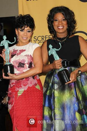 Selenis Leyva and Lorraine Toussaint - A variety of stars were photographed in the press room at the 21st Annual...