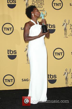 Viola Davis - A variety of stars were photographed in the press room at the 21st Annual SAG Awards which...
