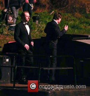 Tom Cruise and Simon Pegg - Shots of American Hollywood star Tom Cruise along with British film actor Simon Pegg...