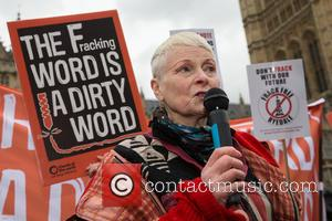 Dame Vivienne Westwood - A protest against fracking, organised by Greenpeace, takes palce outside Parliament on the day of the...