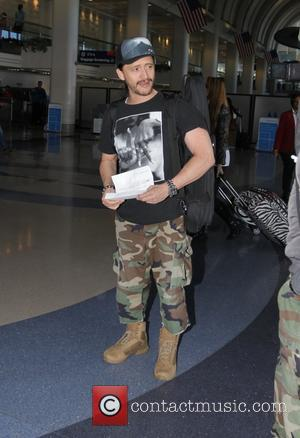Clifton Collins Jr. - Pacific Rim  actor, Clifton Collins Jr. departs from Los Angeles International Airport (LAX) - Los...