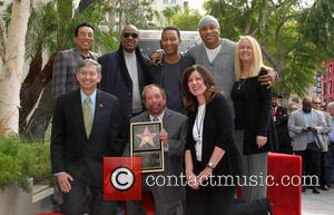 Smokey Robinson, Stevie Wonder, John Legend, LL Cool J, Leron Gubler and Ken Ehrlich - Kenneth Ehrlich honored with a...